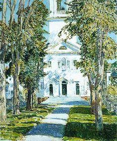 Childe Hassam: The Church at Gloucester (25.206) | Heilbrunn Timeline of Art History | The Metropolitan Museum of Art