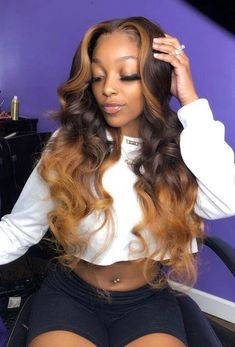 Beautiful long wavy hairstyles wigs for black women lace front wigs human hair wigs buy now Perruque Long Blonde Wig, Blonde Weave, Blonde Hair Black Girls, Blond Ombre, Ombre Hair Weave, Blonde Braids, Honey Brown Hair, Honey Blonde Hair, Brown Hair With Highlights