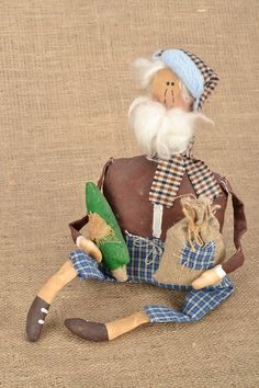 Soft toy Father Frost от BeautifulToyStore на Etsy