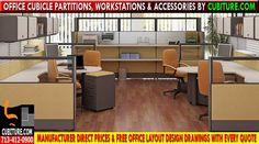 Contemporary Office Cubicle Partitions For Sale In Houston, Texas