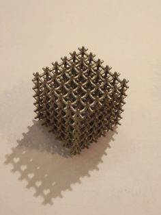 "3D printed metal cube by Layerwise at ""Inside 3D printing"" in Berlin, March 2014"