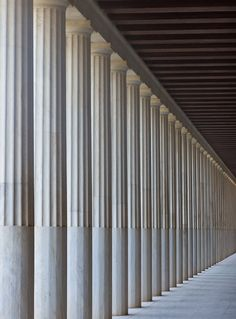 Stoa of Attalos colonnade athens