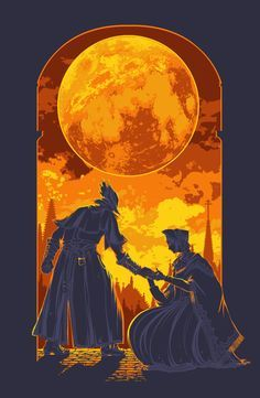 cool Large Bloodborne Hunter and Plain Doll Poster by GryphonShifter