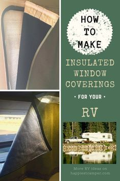 How To Make Insulated Window Coverings for your RV. I got tired of coverings that didn't insulate so I made my own. I provide Step by Step instructions so you can make your own Insulated Window coverings for your RV to provide privacy. Camper Hacks, Rv Hacks, Camper Ideas, Camper Windows, Camper Curtains, Insulated Curtains, Diy Rv, Rv Makeover, Diy Camping