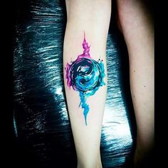 My moon and zodiac elements are fire and water. I think this would be a perfect tattoo to show that...