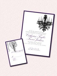 Chandelier Invites but in ivory, cream, and gold Magenta, Purple, Art Base, Wedding Invitation Design, Vows, Invites, Wedding Cakes, Chandelier, House Design