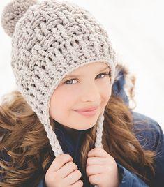 Ravelry  Chunky Texture Weave Earflap Hat pattern by Crochet by Jennifer  Chunky Crochet Hat 8e47236670e