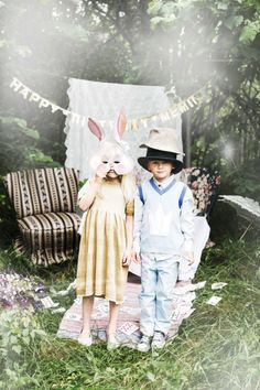 Memini children`s wear by Kristine Vikse, Norwegian design, organic cotton, baby and kids ss 2016. Baby girl, baby boy, sibling photo, Alice in wonderland, linen, cotton, checked dress, linen suit, prinsessefin, mushroom, tea party, Alice in wonderland, forest photo, magic hatter