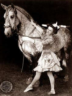 Selection of sizes available Vintage Circus Performing Girl and Horse Canvas Tote