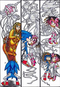 That pharaoh sonic reminds me of the one on SonicUnderground :)