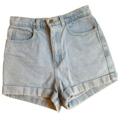 Blue Denim Jeans Shorts AMERICAN APPAREL