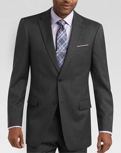 Tommy Hilfiger Charcoal Multistripe Slim Fit Suit