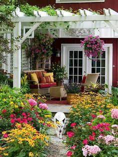 .backyard flower garden