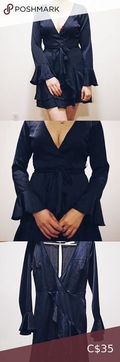 Silk Mini Dress Lightweight flowy dress perfect for weddings but, can also be dressed down for the summer. Dolly Girl Fashion Dresses Long Sleeve Silk Mini Dress, Wool Dress, Girl Fashion, Fashion Dresses, Plus Fashion, Bird Dress, Long Shirt Dress, Long Sleeve Maxi, Navy Dress