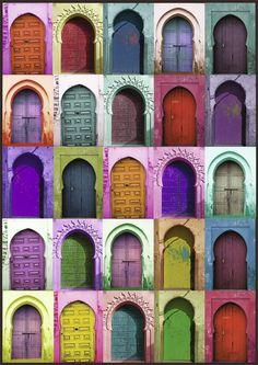 Puzzle 1 500 dielikov: Colorful doors Puzzle, Colorful, Doors, Puzzles, Puzzle Games, Riddles, Gate