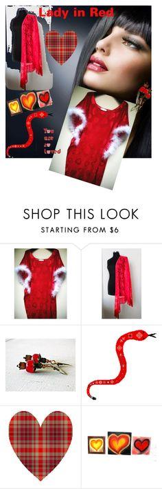 Lady in Red #integritytt #TIntegrityT #etsyspecialt #valentines #polyvorestyle #petrinablakely by petrina-kauai on Polyvore featuring moda