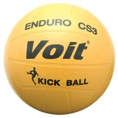Voit Enduro Cs3 Kickball by Voit. $12.17. The Enduro CS3 is the original 8 1/2in Voit playground kickball! This ball has a butyl bladder surrounded by layers of nylon windings. The durable but soft outer rubber cover offers an excellent ball for those tough playground areas.