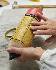 Creating the #AnyaHindmarch #SS15 #runway Pencil clutch