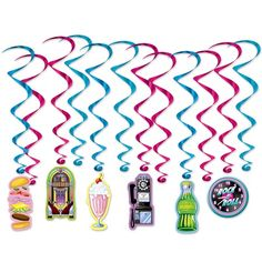 5.5 Inches x 12 Feet Fun Express School Days Streamer Set Back to School Supplies Cards Colorful Party Classroom Decoration Ribbons Streamers