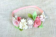 Felt Flower Crown // Neutral Tans Creams Pinks by fancyfreefinery, $23.50