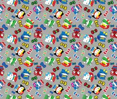 Super Hello Kitty  fabric by pink posh on Spoonflower - custom fabric