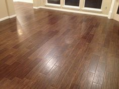 """wood"" tile flooring."