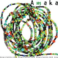 Amaka - Custom Fit African Waist Beads - Necklace / Bracelet / Anklet by dawlface8 on Etsy