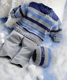 Ravelry: Baby Sweater pattern by Christelle Ledoux Baby Knitting Patterns, Baby Sweater Patterns, Baby Cardigan Knitting Pattern, Knitting For Kids, Baby Patterns, Baby Boy Sweater, Knit Baby Sweaters, Boys Sweaters, Cardigan Bebe