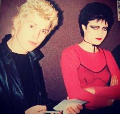 Billy Idol and Siouxsie Sioux Siouxsie Sioux, Siouxsie & The Banshees, Billy Idol, Punk Rock, Dark Wave, New Wave Music, 70s Punk, Into The Fire, Cinema