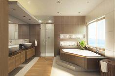Bathroom Designs 2014 Sunken bathtub. It's like a pool in your bathroom! Yes please!@ http://www.amazon.com/dp/B01C5YDNHK