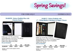 Deluxe Padfolio Plus W/Pocket Just $8.60