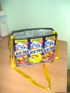 Tetrapacktasche Recycling, Lunch Box, Diy, Diy Home Crafts, Bricolage, Bento Box, Do It Yourself, Upcycle, Homemade