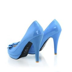 QueenFashion Women's Closed Round Toe High Heel Patent Leather Imitated Leather Solid Pumps whith Bowknot, Blue, 40 QueenFashion http://www.amazon.com/dp/B00JJLPWFY/ref=cm_sw_r_pi_dp_NjmZtb0CHV85KG1D