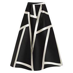 Buy L.K. Bennett Aine Maxi Stripe Skirt, Black Online at johnlewis.com