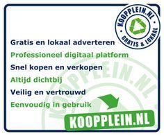 En zo is het! Hoezo betalen voor je advertenties op marktplaats? Bij Koopplein particulier altijd gratis adverteren! Www.koopplein.nl