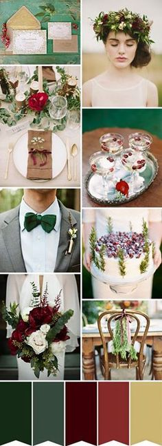Inspiration for winter photoshoot with reds, greens and golds #photography #styled