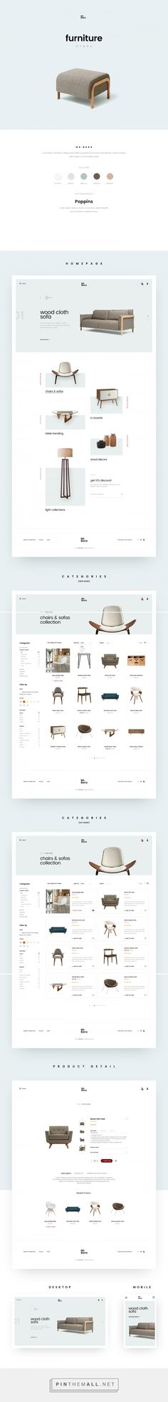 Furniture Site / Web Design / Interaction / UI Design / UX Design / Minimalist / E-Commerce / Interior Design / E-Shop / Clean / Business / Store / Inspiration / Ideas / Layout / Trends / Navigation / Pastel / Beautiful / Modern / Interior / Elegant / White Space