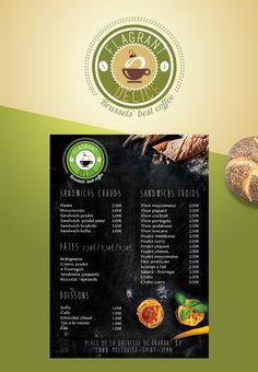 Flagrant Délice - Création du logo - Carte de menu Brochures, Flyers, Creations, Cocktails, Posters, Logo, Menu Boards, Projects, Craft Cocktails