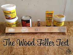 Product testing for 5 of the most popular wood fillers and epoxies. Year 2 of…