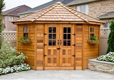 Outdoor Living Today - 9 x 9 Penthouse Garden Shed with French Doors #Brand_Outdoor-Living-Today #Category_Sheds #Material_Western-Red-Cedar