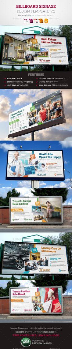 Billboard Signage Design v2 — Vector EPS #tour billboard #print ready • Available here → https://graphicriver.net/item/billboard-signage-design-v2/14275520?ref=pxcr