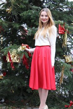 scarlet - Poppies and Cornflowers Skater Skirt, Midi Skirt, Scarlet, My Outfit, Poppies, Skirts, Outfits, Beautiful, Fashion