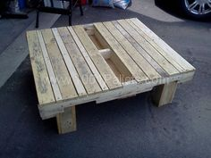 Table basse de jardin / Garden coffee table | 1001 Pallets