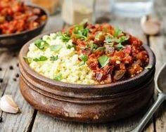 Millet cuit à l'aubergine et sauce tomate épicée Ingrédients