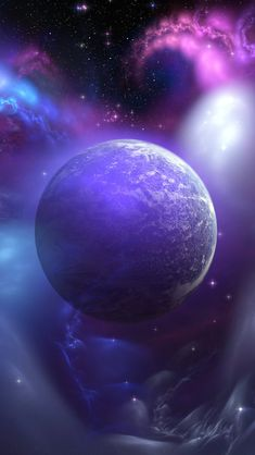 Nebula And Planet #iPhone #5s #wallpaper