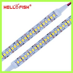Hello Fish 2835 LED strip SMD 1200 LED chip 12V LED Flexible PCB light LED backlight Strip LED tape 240 LED/m White/Warm White