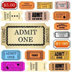 set of ticket admit one-