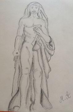croquis au Louvre