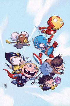 Marvel Superheroes As Babies By Skottie Young