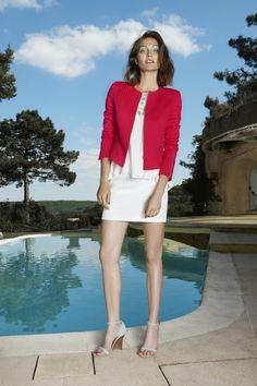Axara Printemps-Ete 15 . Jacket - E15 26369 .  Skirt - E1518613 . Top E15 15655 . Made in France